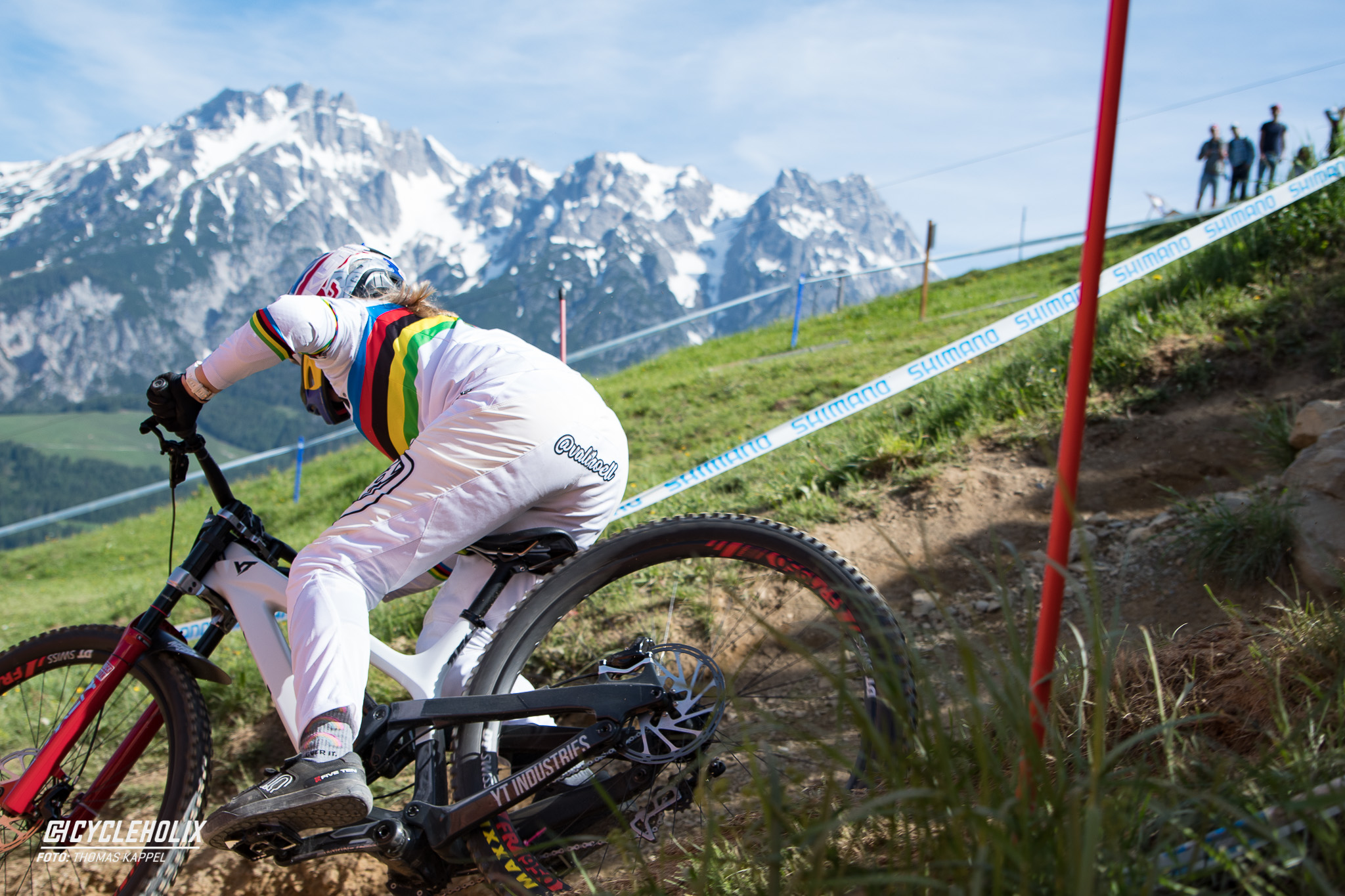 2019 Downhill Worldcup Leogang Finale Action 2